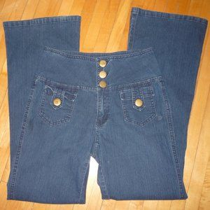 Cache Ultra High Waisted Jeans Size 8